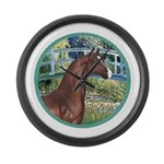 ORN-Bridge-ArabianHorse Large Wall Clock
