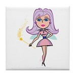 Pink Fairy Tile Coaster