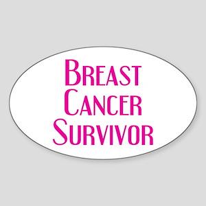 Breast Cancer Survivor Oval Sticker