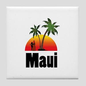 Maui Surfing Tile Coaster