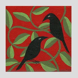 Two Crows Tile Coaster