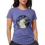 Starry Night - White Arabian Horse Portrait Wo