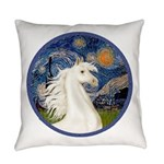 Starry Night - White Arabian Horse Portrait Ev
