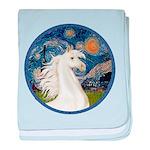 Starry Night - White Arabian Horse Portrait ba