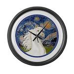Starry Night - White Arabian Horse Portrait La