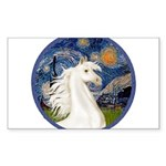 Starry Night - White Arabian Horse Portrait St