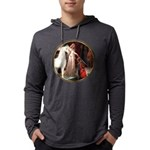 The Acolade - White Arabian Horse Mens Hooded