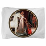 The Acolade - White Arabian Horse Pillow Sham
