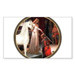 The Acolade - White Arabian Horse Sticker (Rec