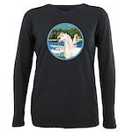 Sailboats (Monet) - White Arabian Horse Plus S