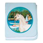 Sailboats (Monet) - White Arabian Horse baby b