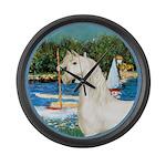 Sailboats (Monet) - White Arabian Horse Large