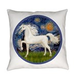 Starry / Arabian Horse (W1) Everyday Pillow