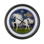 Starry / Arabian Horse (W1) Large Wall Clock
