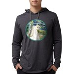 Bridge (Monet) - White Arabian Horse Mens Hood