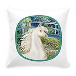 Bridge (Monet) - White Arabian Horse Everyday