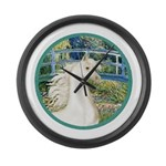 Bridge (Monet) - White Arabian Horse Large Wal