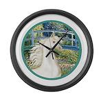 Bridge (Monet) - White Arabian Horse Large Wal