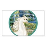 Bridge (Monet) - White Arabian Horse Sticker (