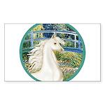 Bridge (Monet) - White Arabian Horse Sticker (