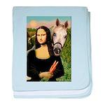 Mona's Arabian Horse (1) baby blanket