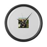Mona's Arabian Horse (1) Large Wall Clock