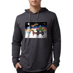 XmsSigns/3 Horses (Ar) Mens Hooded Shirt