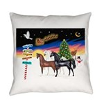 XmsSigns/3 Horses (Ar) Everyday Pillow