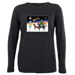 XmsSigns/3 Horses (Ar) Plus Size Long Sleeve Tee