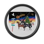 XmsSigns/3 Horses (Ar) Large Wall Clock