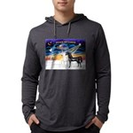 XmsSunrs/2 Horses (Ar) Mens Hooded Shirt