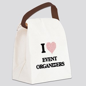 I love Event Organizers (Heart ma Canvas Lunch Bag