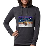 XmsSunrs/3 Horses (Ar) Womens Hooded Shirt