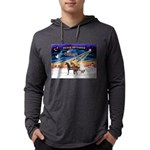 XmsSunrs/3 Horses (Ar) Mens Hooded Shirt