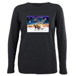 XmsSunrs/3 Horses (Ar) Plus Size Long Sleeve Tee