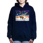 XmsSunrs/3 Horses (Ar) Women's Hooded Sweatshi