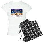 XmsSunrs/3 Horses (Ar) Women's Light Pajamas