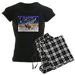 XmsSunrs/3 Horses (Ar) Women's Dark Pajamas