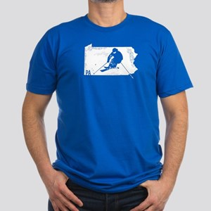 Ski Pennsylvania Men's Fitted T-Shirt (dark)
