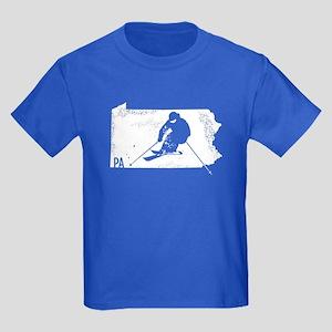 Ski Pennsylvania Kids Dark T-Shirt
