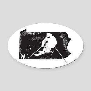 Ski Pennsylvania Oval Car Magnet