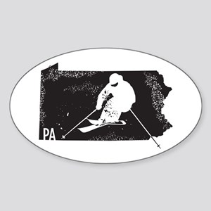 Ski Pennsylvania Sticker (Oval)