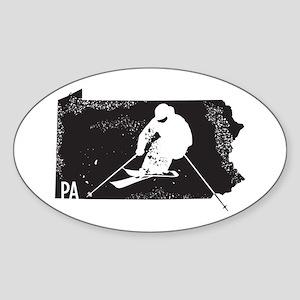 Ski Pennsylvania Sticker (Oval)