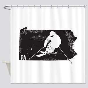 Ski Pennsylvania Shower Curtain