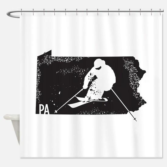 Ski Pennsylvania Shower Curtain