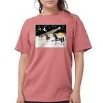 XmsDove/3 Horses (Ar) Womens Comfort Colors Shirt