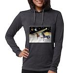 XmsDove/3 Horses (Ar) Womens Hooded Shirt