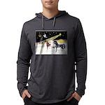 XmsDove/3 Horses (Ar) Mens Hooded Shirt