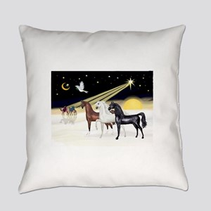 XmsDove/3 Horses (Ar) Everyday Pillow