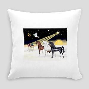 XmsDove/3 Horses (Ar) Everyday Pillow
